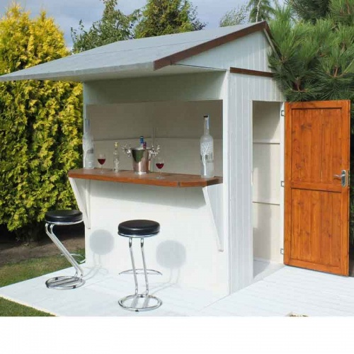 6x4 Garden Shed Bar Apex Roof Shiplap Clad